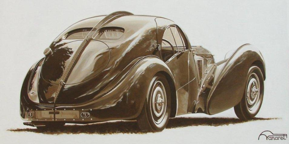 Bugatti Atlantic By Francois Vanaret.