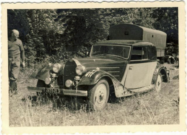 Bugatti Type 57 Confiscated By German Army