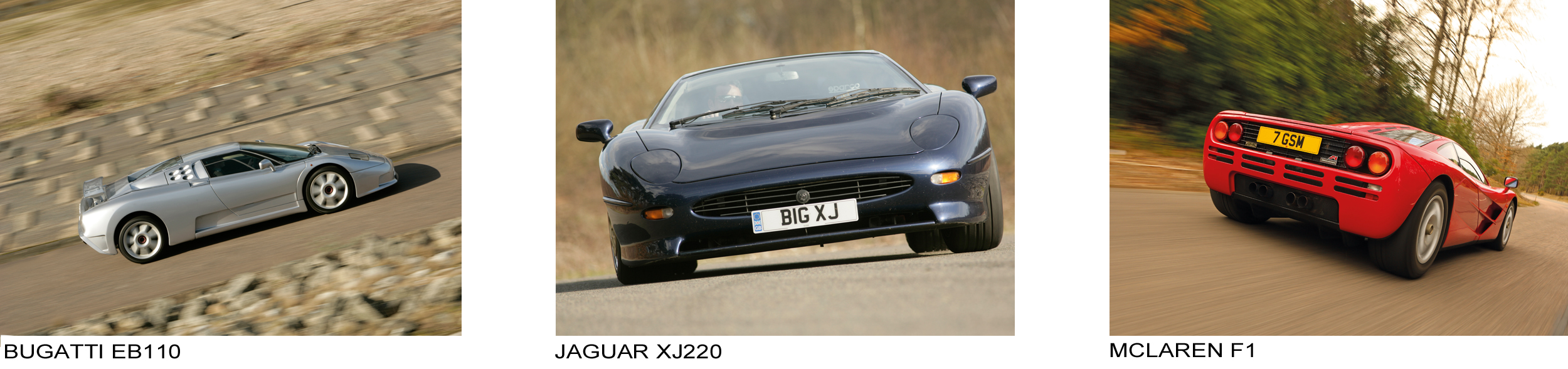 For each of eleven decades, from before 2014 to the 2010 s, there are 3  cars to chose from. Thus a total of 33 cars, and amongst those 4 Bugattis,  ... 5cf18970203