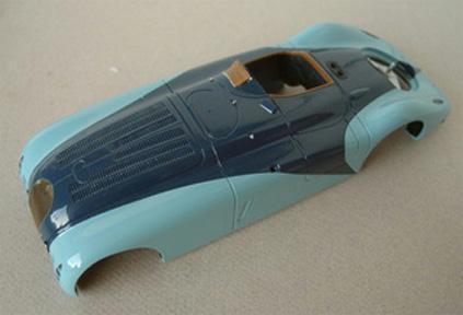 1:43 Exhaust Bugatti t46 superprofilé-white metal